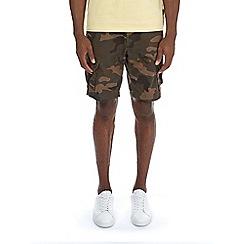 Burton - Mid green camouflage cargo shorts