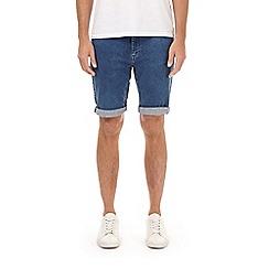 Burton - Blue acid wash denim shorts
