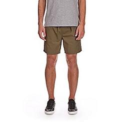 Burton - Khaki drawstring shorts