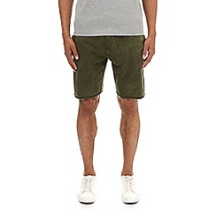 Burton - Khaki acid wash jersey shorts