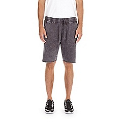 Burton - Grey acid wash jersey shorts