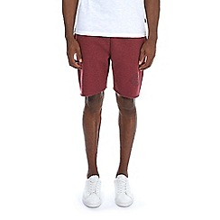 Burton - Red jersey raw hem shorts
