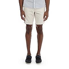 Burton - Stone belted oxford shorts