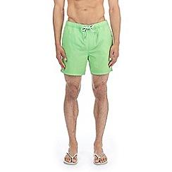 Burton - Fluorescent green regular pull on swim shorts