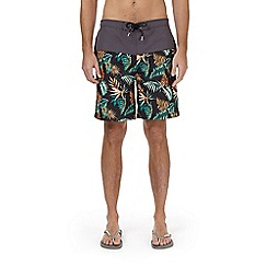 Burton - Cut and sew floral print board swimshorts