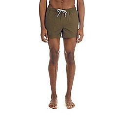 Burton - Khaki regular pull on swim shorts