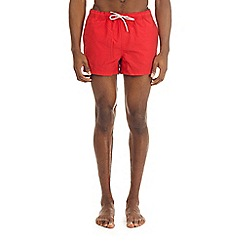 Burton - Red regular pull on swim shorts