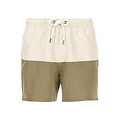 Burton - Khaki stone block swim shorts