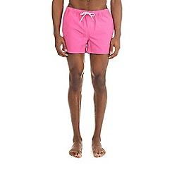 Burton - Bright pink regular pull on swim shorts