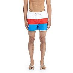 Burton - Red retro stripe short runner swimshorts