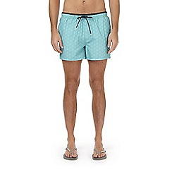 Burton - Green geometric circle print regular pull on swim shorts