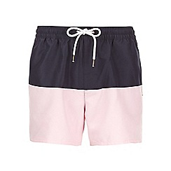 Burton - Pink blue block swim shorts
