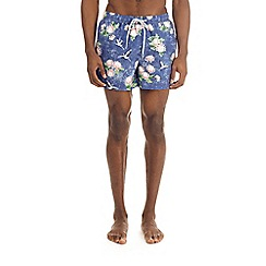 Burton - Stork print regular pull swim shorts