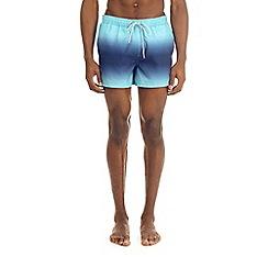 Burton - Blue dip dye pull on swim shorts