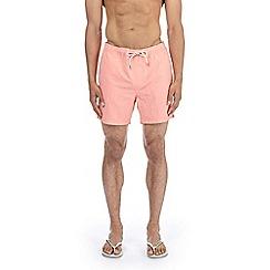 Burton - Light peach mid length pull on swim short