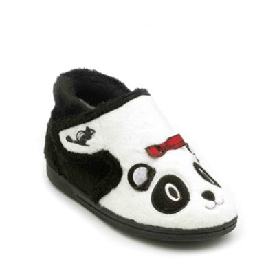 Chipmunks - Girls white black panda style slipper