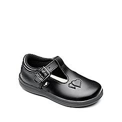 Chipmunks - Girls 'Esme' black leather school shoe