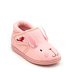 Chipmunks - Girls' pink 'Katie' the rabbit slippers in soft textile