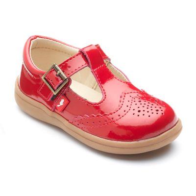 Chipmunks - Girls' red 'Eva' shoe in patent leather
