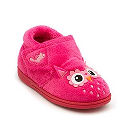 Chipmunks - Girls pink owl style slipper