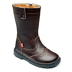Chipmunks - Girls dark brown leather 'selena' boot