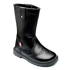 Chipmunks - Girls black leather 'selena' boot