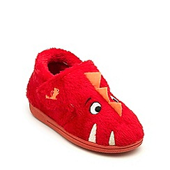 Chipmunks - Boys red 'Monster' slippers