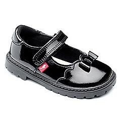 Chipmunks - Girls black patent 'amber' leather shoe