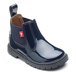 Chipmunks - Girls' navy 'Ranch' boots