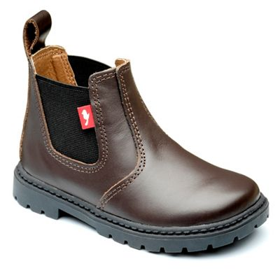 Chipmunks - Boys' chocolate 'Ranch' boot in leather