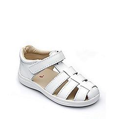 Chipmunks - Girls' white leather 'Nancy' sandal