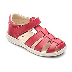 Chipmunks - Boys 'Noah' sandal in red leather