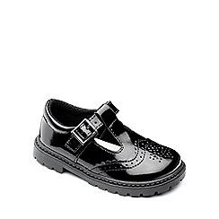 Chipmunks - Girls' black 'Ellie' school shoes in leather