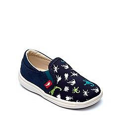 Chipmunks - Boys' navy canvas 'Scorpio' shoe