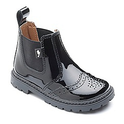 Chipmunks - Girls' black 'Riley' boots