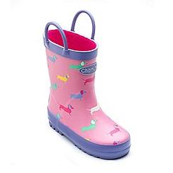 Chipmunks - Girls pink 'Harriet' wellington