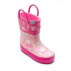 Chipmunks - Girls pink 'Princess' wellington