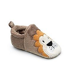 Chipmunks - Baby boys' brown 'Lenny' slipper