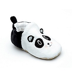 Chipmunks - Baby girls' black and white 'Bei Bei' slipper