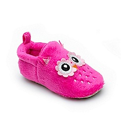 Chipmunks - Baby girls' pink 'Clover' slipper