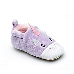 Chipmunks - Baby girls' lavender 'Rainbow' slipper