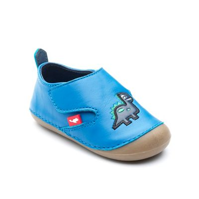 Chipmunks - Babies' Blue 'Dara' the dinosaur pre walker shoes in leather