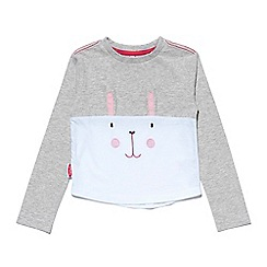 Chipmunks - Girls grey and white 'Laila' t-shirt
