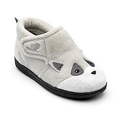 Chipmunks - Boys' Grey 'Rocco' Racoon slippers