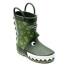 Chipmunks - Boys' dinosaur themed 'darcy' wellingtons in rubber