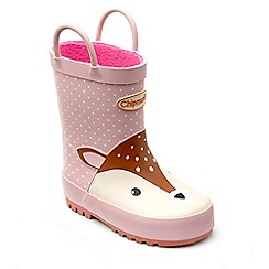 Chipmunks - Girl's Deer themed 'Dillon' wellingtons in rubber