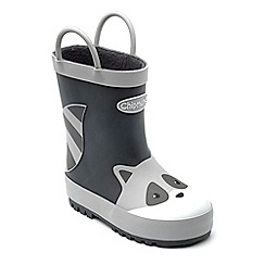 Chipmunks - Boy's Racoon themed 'River' wellingtons in rubber