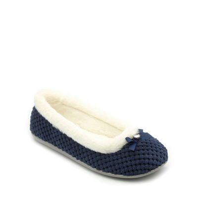 73055db00c72 Freestep - Navy textile ladies slipper