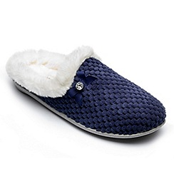 Freestep - Freestep ladies 'audrey' slippers in navy textile
