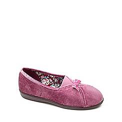 Freestep - Dusty pink textile 'Maisie' ladies slipper
